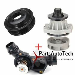 FIT BMW E46 3 Series X5 Z3 3.0i Water Pump  + Pulley +  Thermostat Assembly