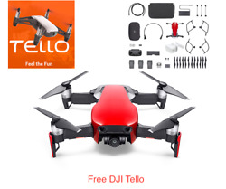 DJI Mavic Air - Flame Red Drone - Fly More COMBO & Goggles  and Free Tello $1,099.00