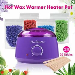 Salon Spa Hair Removal Hot Wax Warmer Heater Pot Machine Kit + 400g Waxing Beans