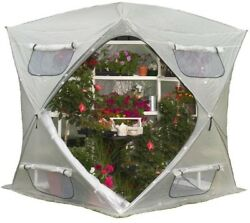 FlowerHouse BloomHouse Portable Pop-Up Greenhouse Open Floor Lightweight Clear