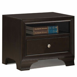 Vintage Nightstand Solid Wood Sofa Side End Table W USB Port amp; Drawer Brown $89.99