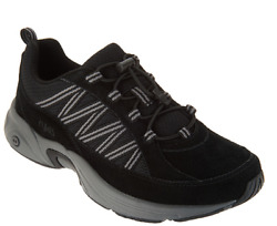 Ryka Suede Bungee Hiking Sneakers Catalyst Trail Black Women#x27;s Size 6 New $33.71