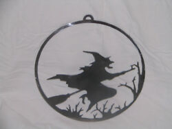 Witch Halloween Wall metal art Festive holiday Scared decoration $11.99