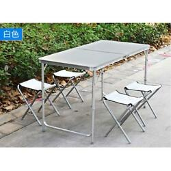 Portable Folding Picnic Table Chairs Set Plastic Outdoor Camping BBQ Garden S9B2