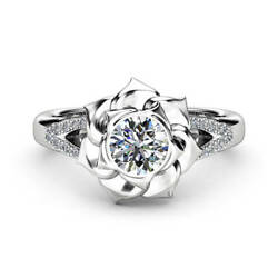 Gorgeous Flower Rings for Women 925 Silver Jewelry White Sapphire Size 6-10