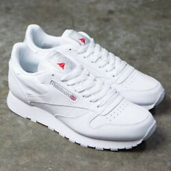 Reebok Classic Leather 9771 White Grey Red Mens Shoes Sneakers Size 7.5 12 $62.95