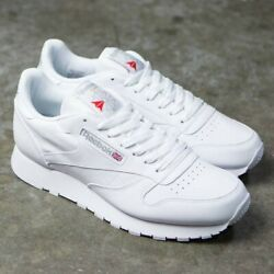 Reebok Classic Leather 9771 White Grey Red Mens Shoes Fashion Sneakers Sizes $60.95