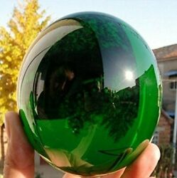 60MM Natural Green Obsidian Sphere Large Crystal Ball Healing Stone $13.10
