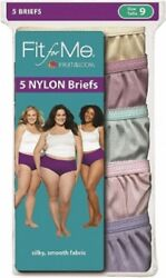 Fit for Me® by Fruit of the Loom® Women's  Briefs 5-Pack 100% Nylon 5DN204P NEW! $11.99