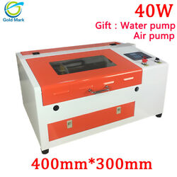 4030 40W CO2 Laser Engraving Machine with Honeycomb Table 300*400mm High Speed