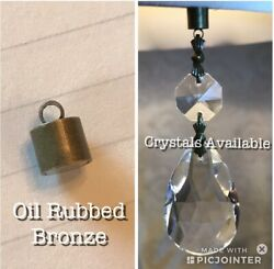 12 MAGNETS OIL RUBBED BRONZE FOR DIY MAGNETIC CHANDELIER CRYSTALS amp; CHARMS $10.00
