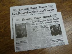 (A-54) July 8 & 9 1947 ROSWELL Crash Newspaper Front Pages UFO Alien space ship $16.99