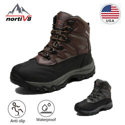 NORTIV 8 Mens Waterproof Lace Up Snow Boots Outdoor Winter Warm Hiking Boots US $24.99