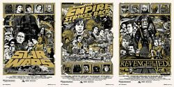 Star wars by Tyler Stout - Variant - Set of 3 prints - Rare Sold out Mondo print