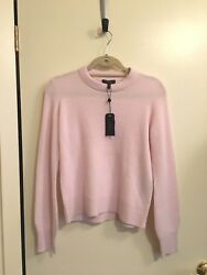 NWT Rag & Bone Ace Cashmere Sweater Pink Nordstrom Small