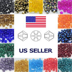 Crystal 100pc 4mm Bicone Beads Glass Beads Jewelry Beads