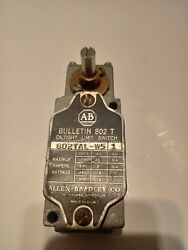 ALLEN BRADLEY OIL TIGHT LIMIT SWITCH 802T AL W5 600V AC $35.00