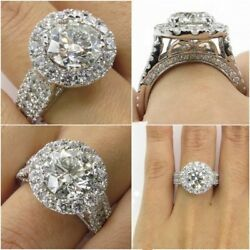 Fashion Round Cut White Sapphire 925 Silver Filled Rings Wedding Ring Size6-10