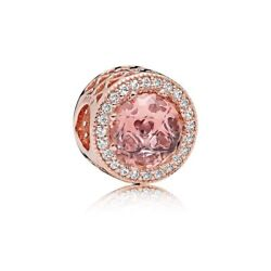 Authentic Pandora Sterling Silver Charm Radiant Hearts Rose™ Pink Bead 781725NBP