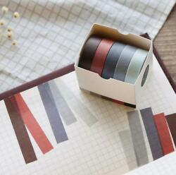5pcs Solid Color DIY Paper Sticky Adhesive Sticker Decorative Washi Tape C $2.98