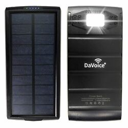Solar Power Bank Solar Charger Solar Phone Charger 20000 mah Portable Charger $24.95
