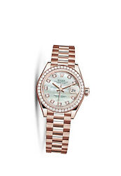 Rolex Datejust 31 Ladies 18 ct Everose Gold President Watch 278285MDP