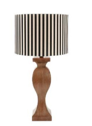 NEW Contemporary Table Lamp Stripped Fabric Shade Resin Table Lamps Bedside $74.99