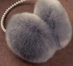 Pearl Winter Earmuff Fur Warmers Plush Cotton Solid Ear Covers Adult Accessories $17.50