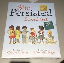 CHELSEA CLINTON - She Persisted Boxed Set - SIGNED AUTO - 1st Printing