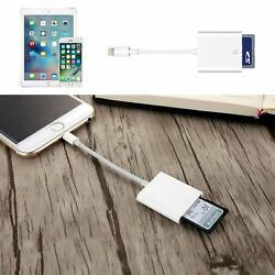 USB SD Card Camera Reader Photo Adapter Data Transfer For iPhone 876 Plus