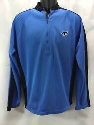 FOX MOTOCROSS RACING Men XL 1 4 Zip Long Sleeve Pullover Light Jacket Motorcycle $21.00