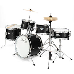 5-Piece Pro Junior Drum Set with Brass Cymbals - Complete Percussion Kit $179.99