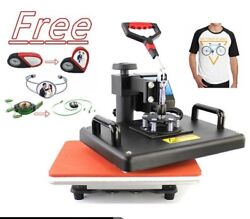 Sublimation Heat Press Machine Digital Swing T-Shirt Business Printing Tools New $687.77