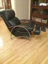 Barcalounger Leather Push Back Recliner