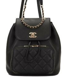 Chanel Black Caviar Business Affinity Backpack
