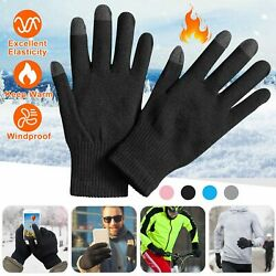 Men Women Touch Screen Texting Gloves Full Fingers Winter Warm Soft Knitted USA $7.80
