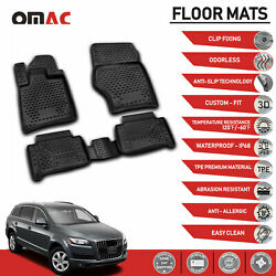 Floor Mats Liner Black 3D Molded Set Fits Audi Q7 2007 2015 $67.92