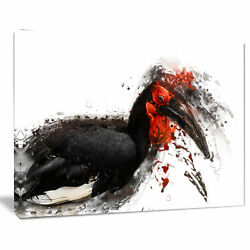 Design Art 'Relaxing Large Exotic Bird' Graphic Art on Wrapped Canvas