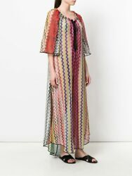 Missoni Mare Metallic Multicolor Woven Beach Dress Size 38. EUC.