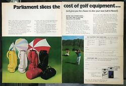Parliament Cigarettes and Gold Equipment Sweepstakes Vintage 1971 Print Ad $5.96
