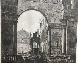 ROSSINI Engraving: Triumphal Arch - Confession of St. Paul  Roma 1823 T99