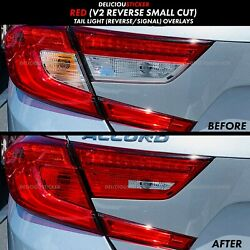 18 2020 ACCORD RED REVERSE Cut Out Rear Tail Light V2 Overlays Precut Tint Vinyl $20.99