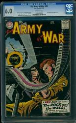 Our Army At War 83 CGC 6.0 OW Silver Age Key DC Comic 1st App Sgt Rock IGKC LK