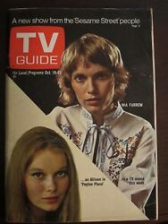 TV Guide October 1971 Mia Farrow Peyton Place Newsstand No Label