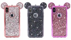 ✔ Cartoon ✔ Glitter Mouse Ears ✔ 3D Case ✔ Soft Gel Cover ✔ Cute ✔ For iPhone