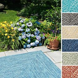 Ocean's Edge IndoorOutdoor Reversible Square Braided Rug USA MADE (11' x 11')