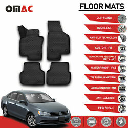 Floor Mats Liner 3D Molded Black Set Fits Volkswagen Jetta 2011 2018 $69.90