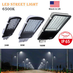 24W 50W 100W LED Outdoor Road Street Light Yard Garden Commercial Flood Light