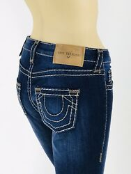 $299 Super T Skinny True Religion Women Jeans Super T 25 26 27 28 29 30 31 Blue $79.00