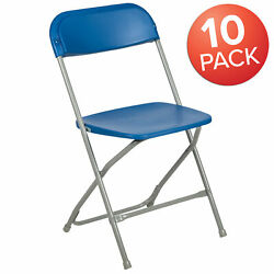 10 Pack Commercial Wedding Event Stackable Plastic Folding Chair
